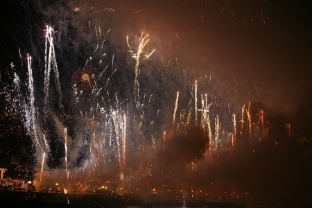 five senses - madeira portugal - new years fireworks