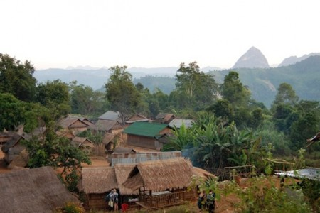 Stay in remote hill villages when trekking in northern Laos. Photo by Cindy Fan