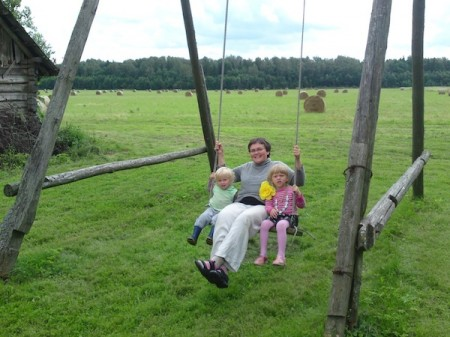 Lithuania agritourism - homestead swing
