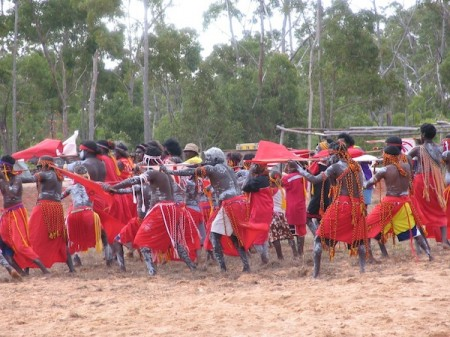 Dancers at the annual Garma Festival in Arnhem Land