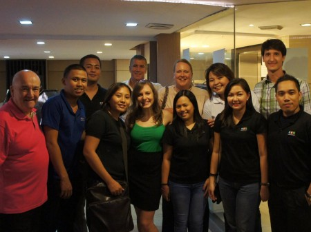 The Hotel Link Solutions team after a workshop with hotels in Manila, Philippines.