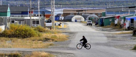 A typical modern-day Inuit community in Nunavik, Quebec
