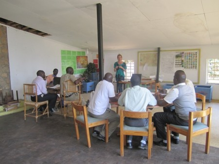 Kate Webb speaks about ecotourism at the Ecotourism Training Day in Malawi