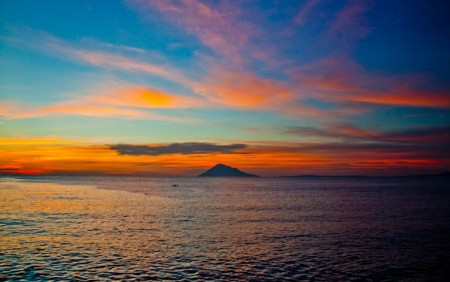 Sunset over in Manado, Indonesia
