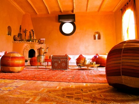 A riad interior in the Souss Massa Draa Region in Southern Morocco