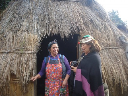 Mapuche women, Pucón, in southern Chile