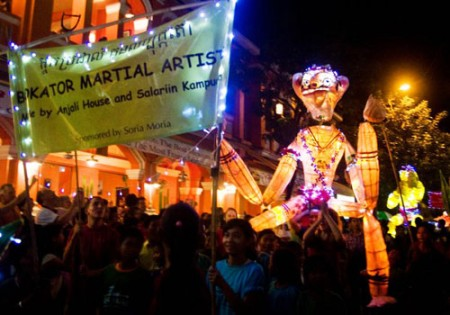 Giant Puppet Parade, Siem Reap, Cambodia
