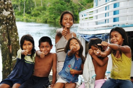Children in San Juan de Soco, Colombia