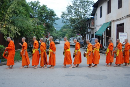 morning alms in luang prabang laos 1