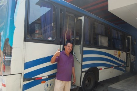 'Copiloto' and his bus in Nicaragua