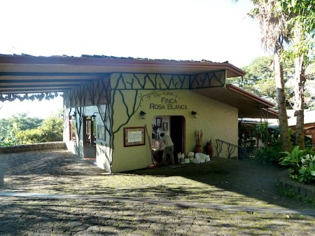 Reception area of Finca Rosa Blanca near San José, Costa Rica