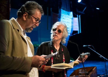 Glenn Jampol and John Densmore at the 2013 International Conference on Sustainable Tourism in San José, Costa Rica. Photo by Lex van den Bosch
