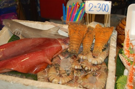 Seafood offerings in Patong, Phuket, Thailand