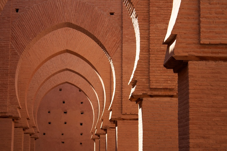 Arches of the 12th-century Tin Mel Mosque, Morroco