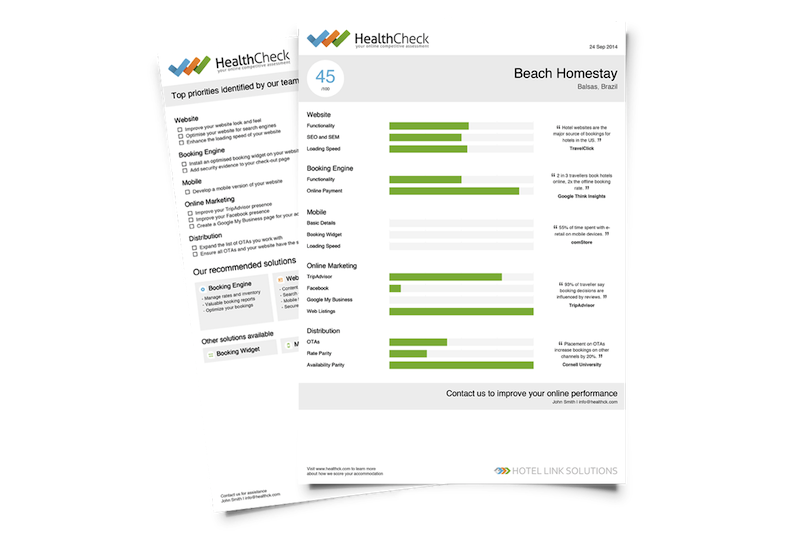 The Hotel Link Solutions HealthCheck  report