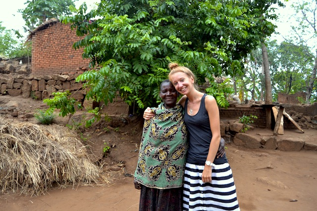 Alice Tilton with her Malawian 'agogo'