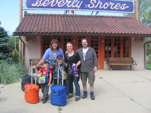 The four of us with Kit Bernardi at Beverly Shores train station