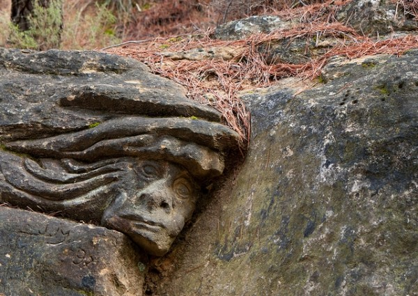 Golem sculpture on the Route of the Faces. Photo by Daniel Tabas