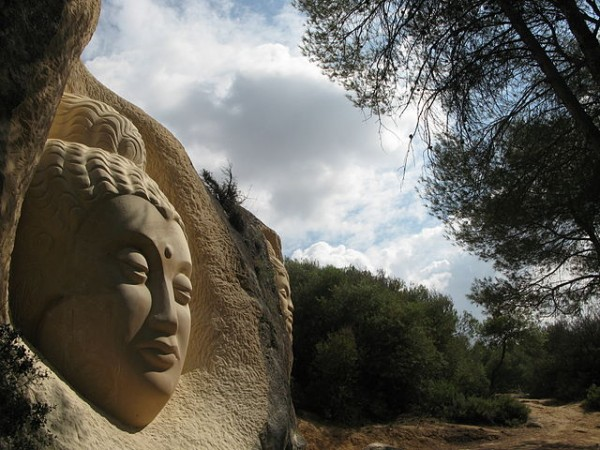 Maitreya sculpture on the Route of the Faces