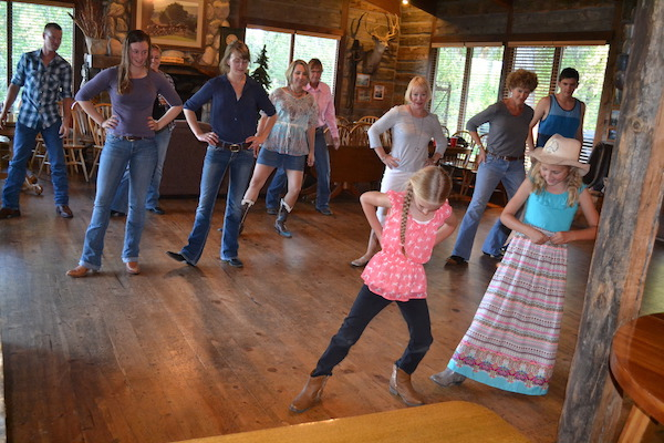Family travel and dude ranches: Line dancing is part of the multigenerational fun