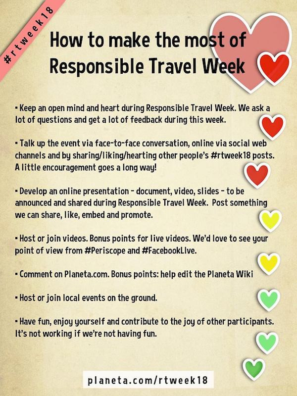 responsible travel events: How to make the most of Responsible Travel Week - #rtweek18