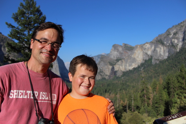 Father ands son in Yosemite