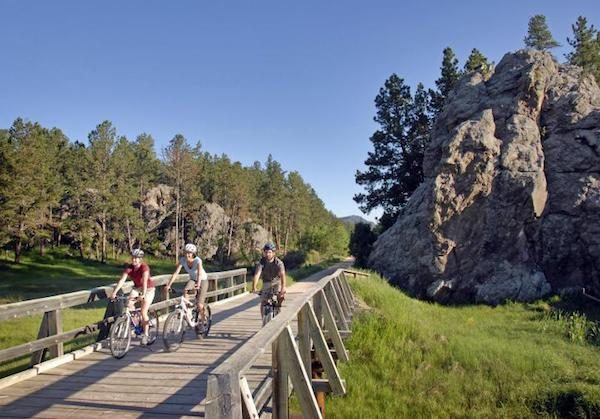 Pedaling along the Mickelson Trail in South Dakota