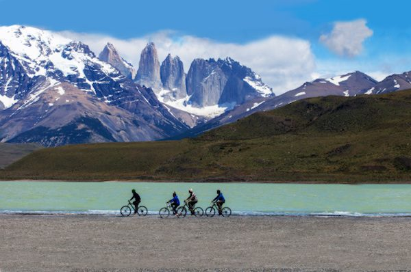 Cycling in Torres del Paine, Chile