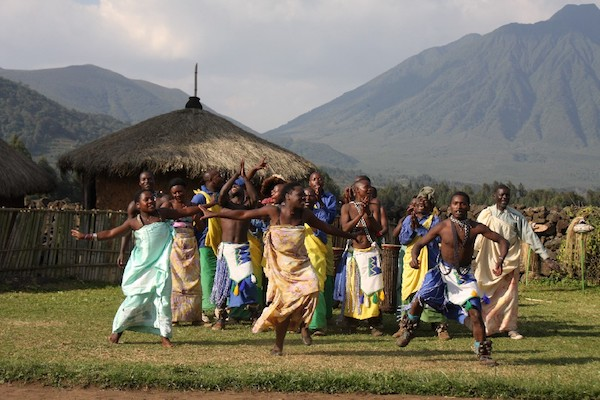 Dancing and drumming on an off-the-beaten-path hillside in Rwanda