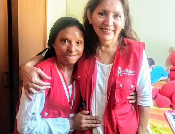 Dr. Mary Malca Villa and Dolores Velasquez, one of Aniquem's many success stories