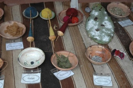 Look out for items made from sustainable resources, like the natural dyes used by traditional weavers in Peru's Sacred Valley