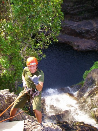 Rappelling in the Chapadas mountain ranges of Brazil